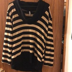 Gold and black sheer 2xl top